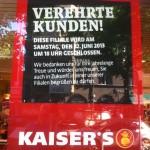 """Kaiser's sagt """"Tschüss!"""""""