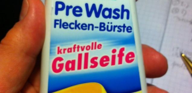 Ich kenne da ein Waschmittel...