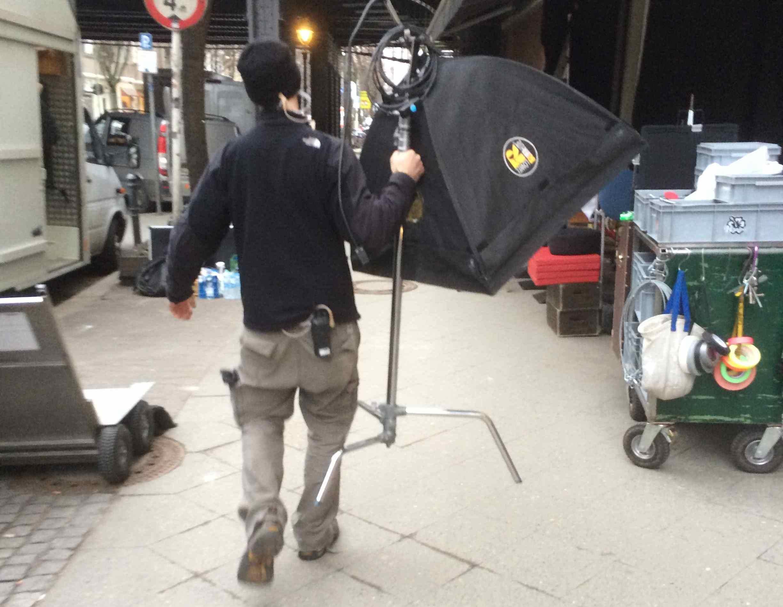 Dreharbeiten in der Bleibtreustraße ©Martin Dubberke 2014